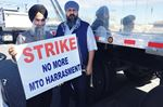Truckers hold protest in Milton over 'unfair' load weighing law
