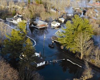 Floodwaters receding in Foxboro– Image 1