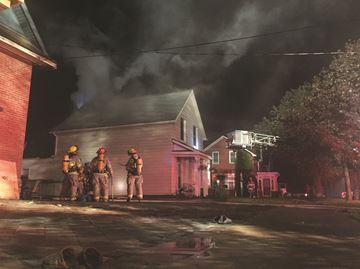 Alliston house fire, Wellington Street West