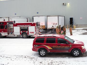 No one was injured after a fire broke out at the Faurecia plant in Bradford Dec. 13.