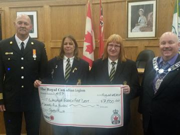Stayner Legion donates $7,500 to Wasaga Fire Department