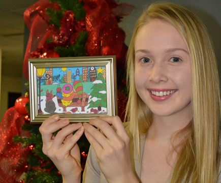barrie christmas card winner captures  munity simcoe