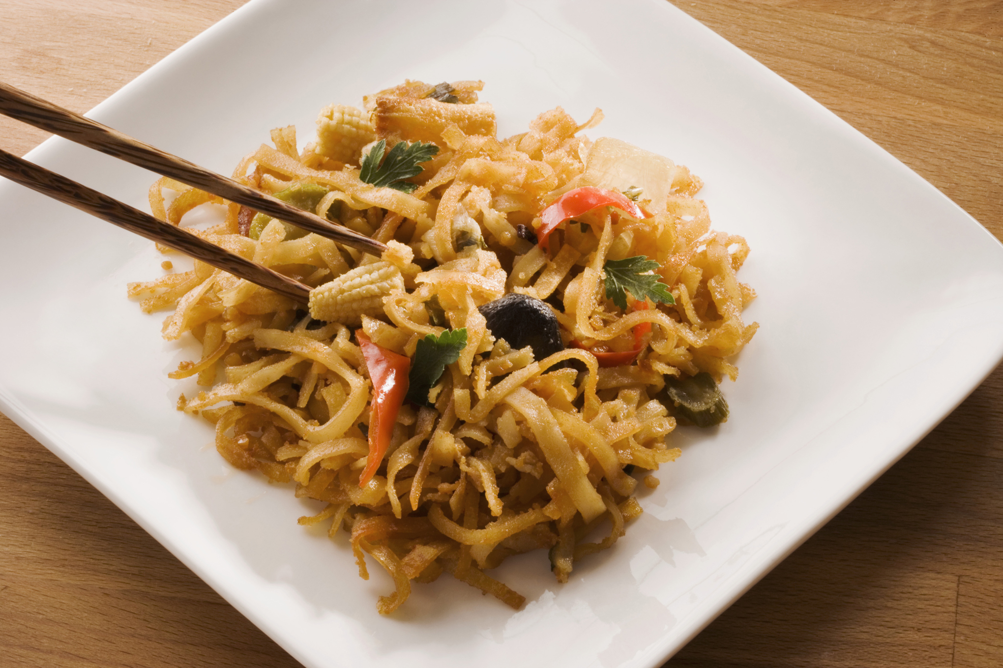 A plate of rice noodles