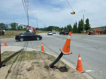 Traffic signals are being installed in west Orillia