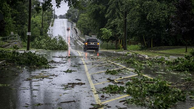 Storm causes damage in Alliston