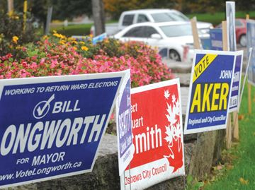Municipal election signs