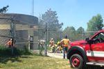 Loyalist crews ventilate building