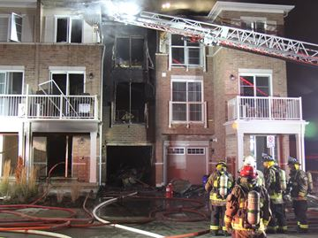 Fire destroys townhouse