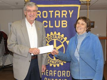 Meaford Rotary donates to refugee effort