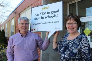 Food Sharing Project executive director Tim Brown and board chair Brenda Moore