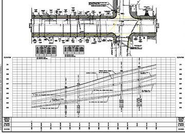 Queen Street reconstruction cross-section