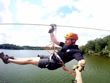 Flying over Heart Lake