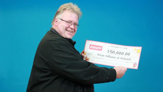 Brian Williams wins lottery