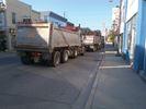Truck traffic through Acton