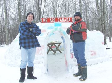 Friends take on igloo building project