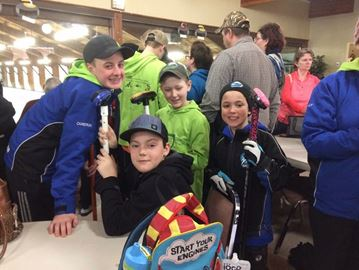Young Meaford curlers successful at Markdale bonspiel