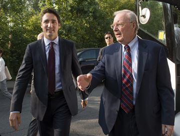 Justin Trudeau and Paul Martin