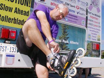 Roller blade fundraiser reaches Orillia
