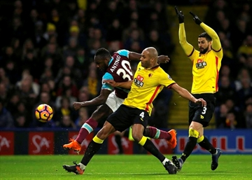 Ayew recovers draw for West Ham at Watford in EPL-Image1