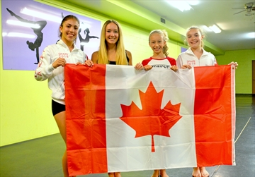 Simona Peracchia of St. Catharines, Tatum and Carlyn McLean of Niagara Falls, and Courtney Burnison of Beamsville are competing at the Dance World Cup, running June 22-30 in Stiges, Spain. The four local dancers were selected to represent Canada as part of a World Performers Canada squad made up of about 100 dancers from across Canada.