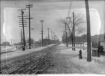 Shots along Weston Road taken March 9, 1914.