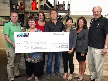 Blue Mountain donates $10k to Theatre Collingwood