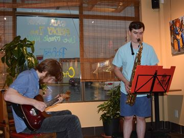 Jazz duo performs at Gaia Java coffee shop in Stittsville