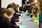 Junior hockey team visits Tottenham school