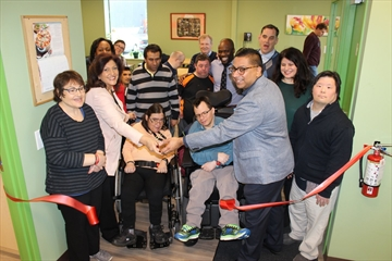 Nina Tangri, MPP, Mississauga-Streetsville, and Jaz Singh, Ontario Trillium Foundation, Halton-Peel Grant Review Team member,  joined representatives from Community Living Mississauga on April 12th as they cut a ceremonial ribbon to mark the opening of a new Community Base Site on Crestlawn Dr.