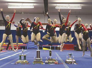 LCVI at Kawartha Gymnastics Championships (1)