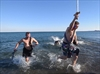 VIDEO: Celebrating the New Year with a chilly swim