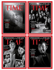 Time Magazine's four covers for the