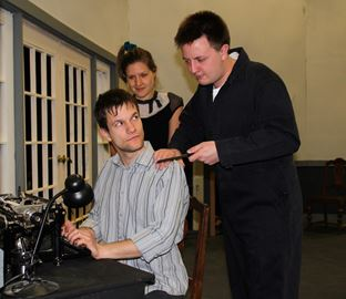 "From left Bianca Chelu, Matthew Hunt and Christian Milanovic star in ""Silver Dagger' at the Domino Theatre."