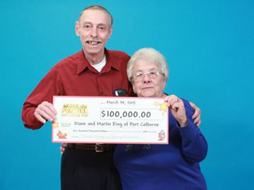 Port Colborne couple spin to win $100,000