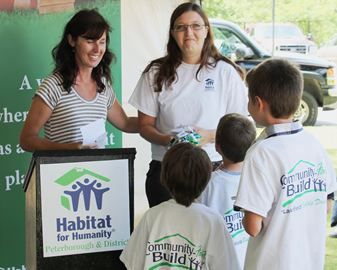 Habitat for Humanity groundbreaking in Lakefield