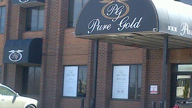 Pure gold strip