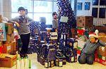 Alliston students build holiday Kraft Dinner tree