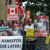 Asbestos demonstration