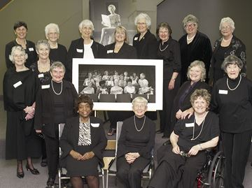 The Peterborough Calendar Girls' reunion from 2009