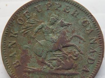Bank of Upper Canada coin discovered by Ward Hewitt