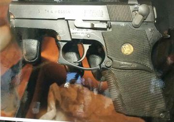 Handgun retrieved