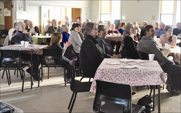Much of Leslie Hall was filled for the event, which celebrates local literary and musical talents and raised money for Friends of the NGPL.