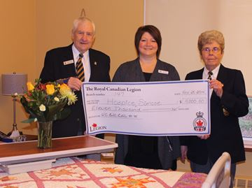 Barrie Legion continues support of Hospice Simcoe