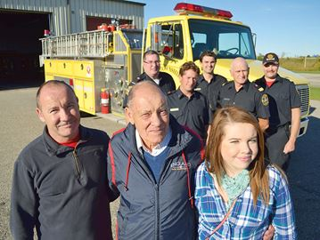 British man returns to Tay Township to thank firefighters for saving his life
