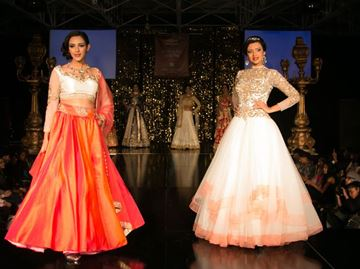 Models show off the latest in bridals trends at the 2015 Suhaag Show