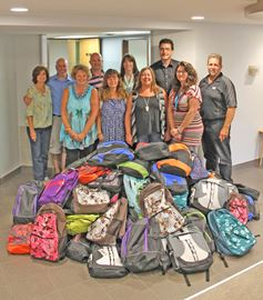 Backpacks for local kids