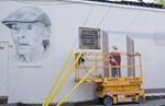 Wandering Wayne mural taking shape