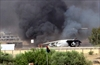 Oil depot catches fire amid clashes in Tripoli-Image1