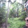Zipping through the trees at Treetop Eco-Adventure Park in Oshawa