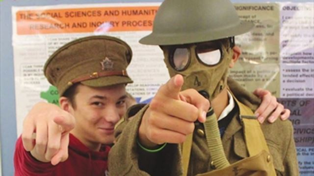 Brookfield students travel back in time